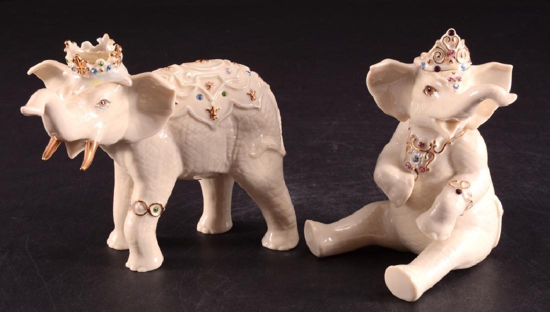 "Lenox ""Heirs to the Throne"" Elephant Figurines"