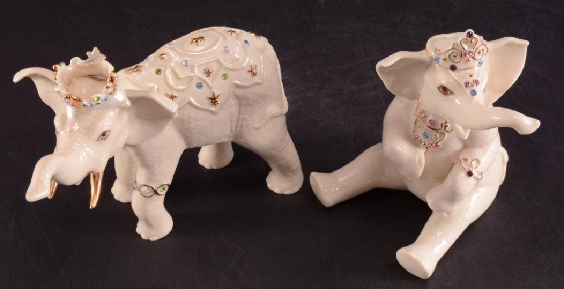 "Lenox ""Heirs to the Throne"" Elephant Figurines - 2"