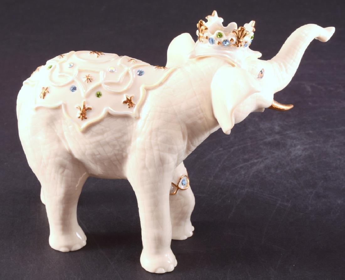 "Lenox ""Heirs to the Throne"" Elephant Figurines - 5"