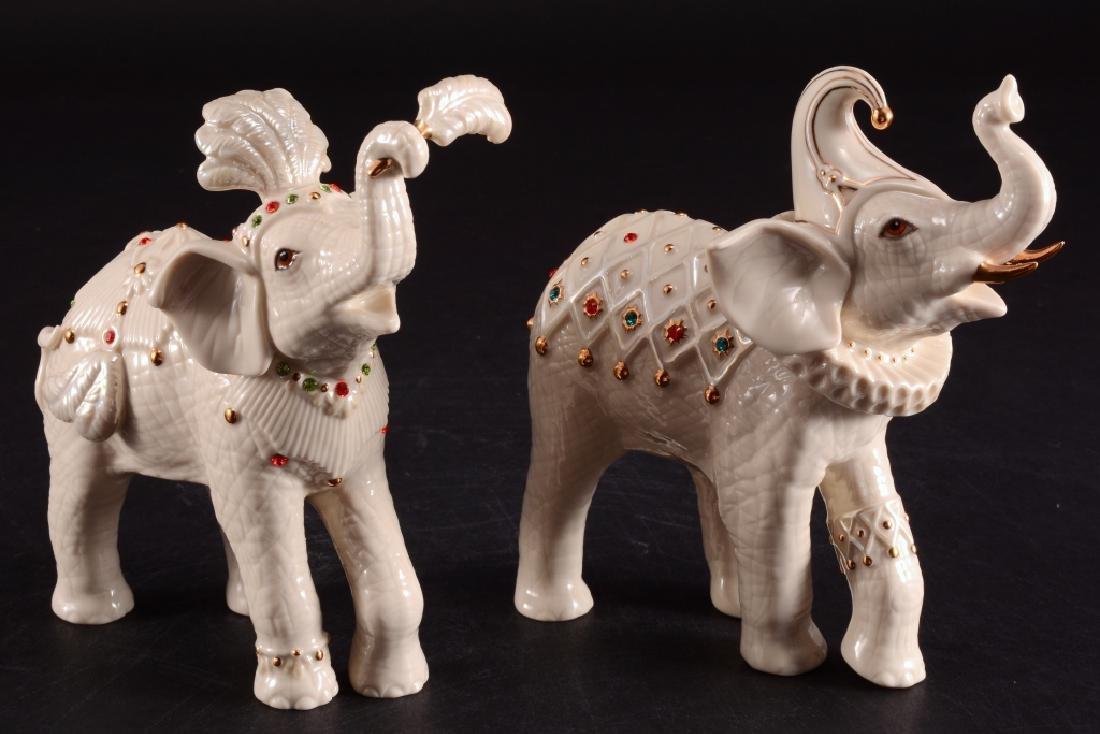 "Lenox ""Royal Court Jesters"" Elephant Figurines"