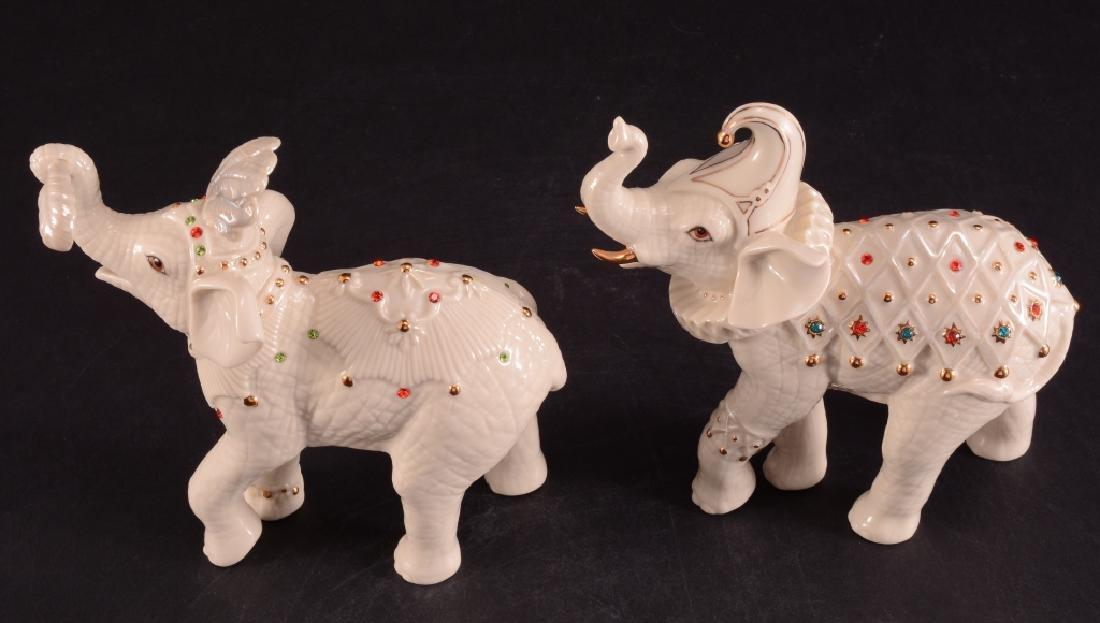 "Lenox ""Royal Court Jesters"" Elephant Figurines - 3"