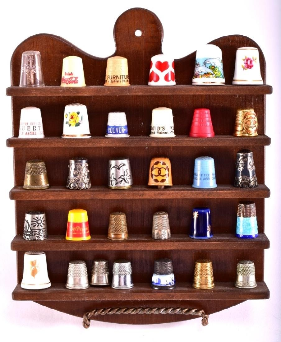 Thimbles & Wooded Display Rack