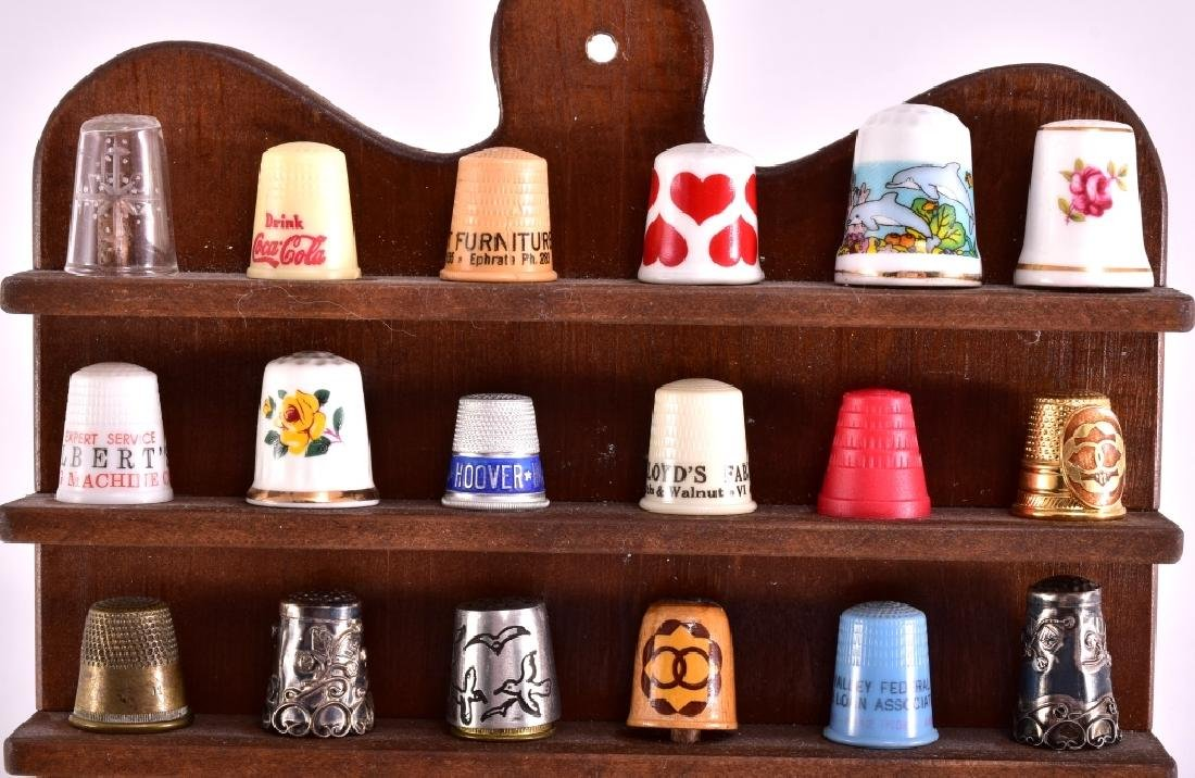 Thimbles & Wooded Display Rack - 2