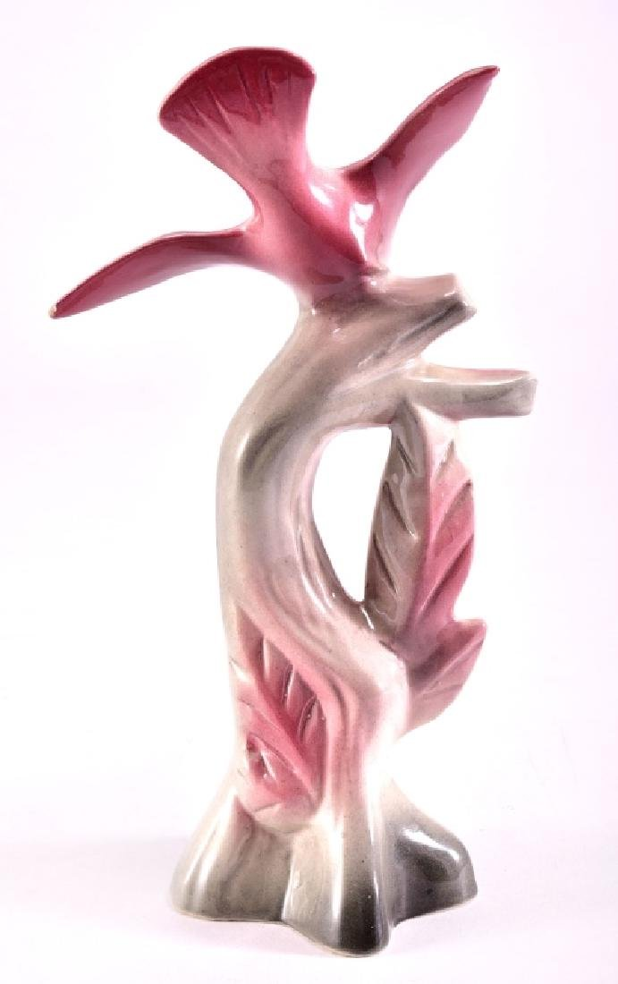 Pink Ceramic Bird on Branch - 3