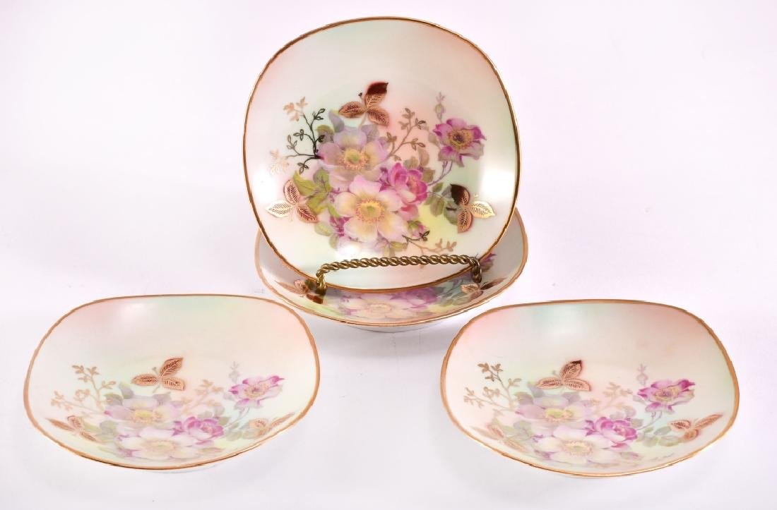 "4 Schumann ""Wild Rose"" Nut Dishes"