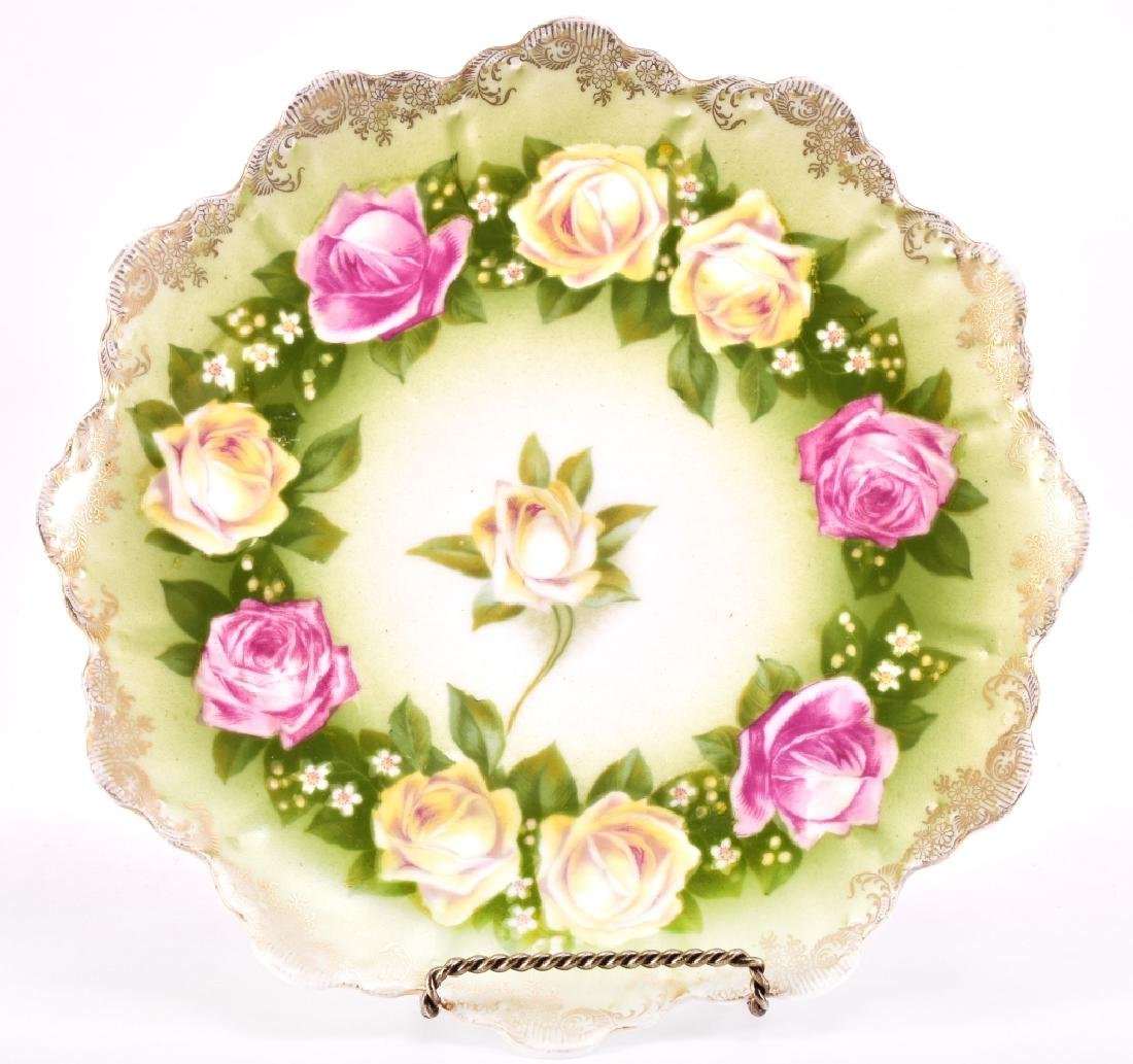 Yellow & Pink Ring of Roses Decorative Plate