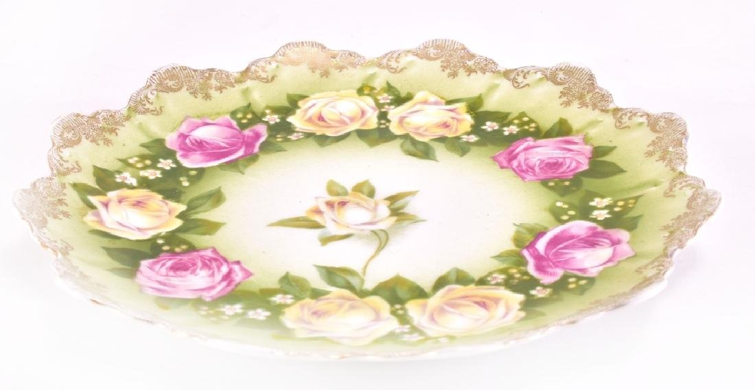 Yellow & Pink Ring of Roses Decorative Plate - 2