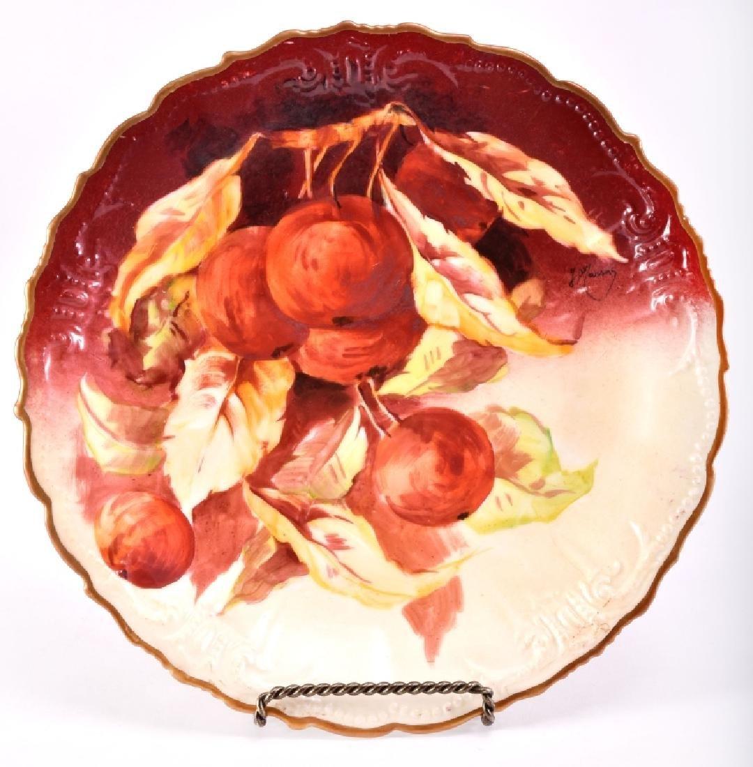B & H Limoges Fruits Decorative Plate