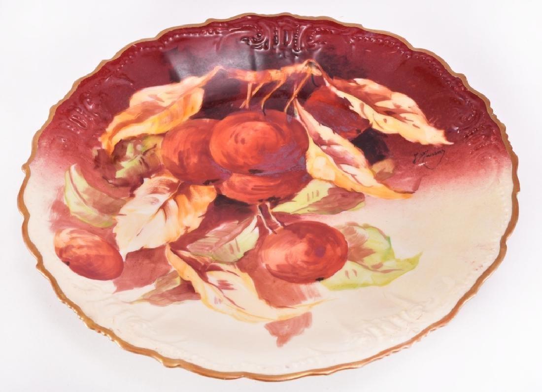 B & H Limoges Fruits Decorative Plate - 3