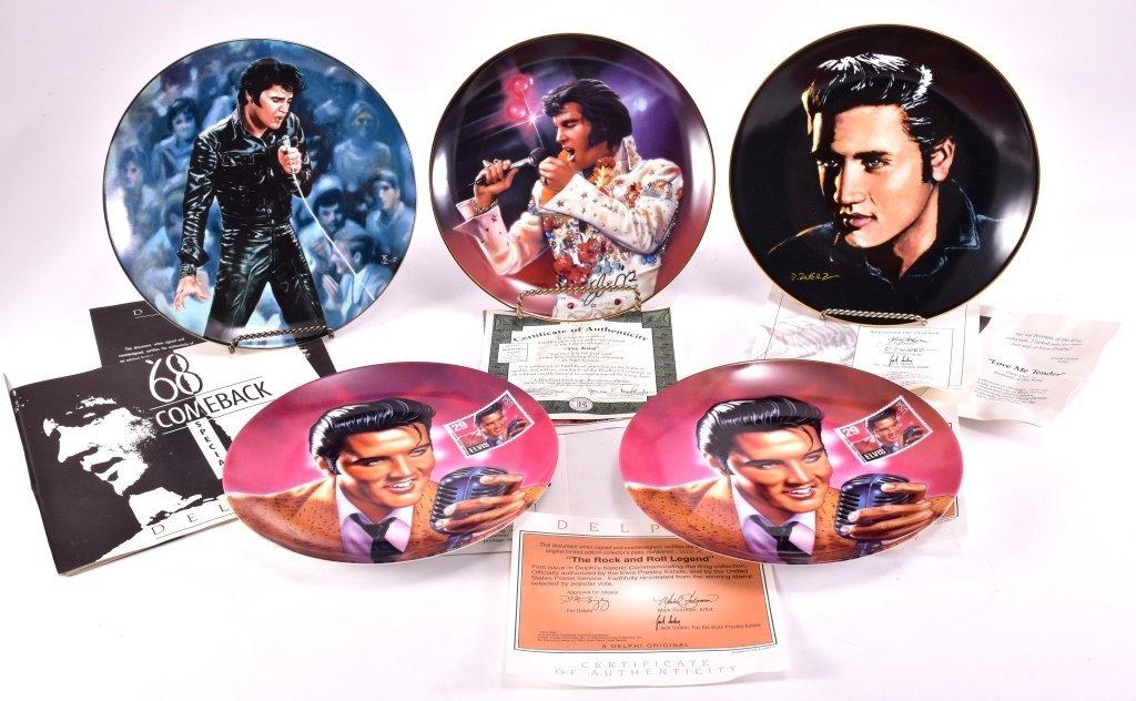 5 Elvis Presley Collector's Plates