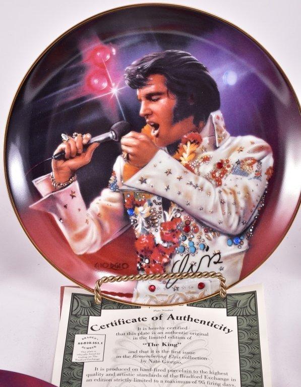 5 Elvis Presley Collector's Plates - 3