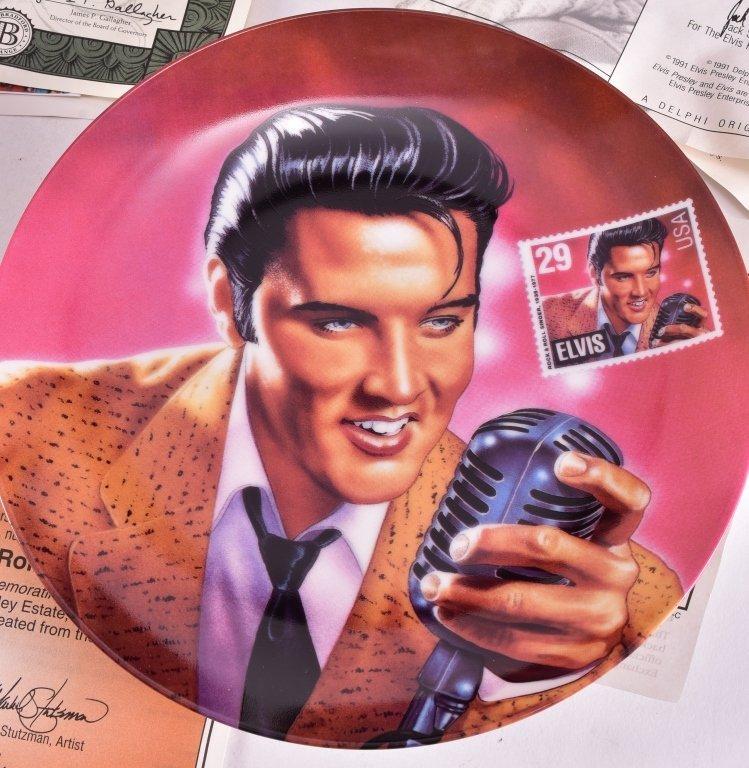 5 Elvis Presley Collector's Plates - 5