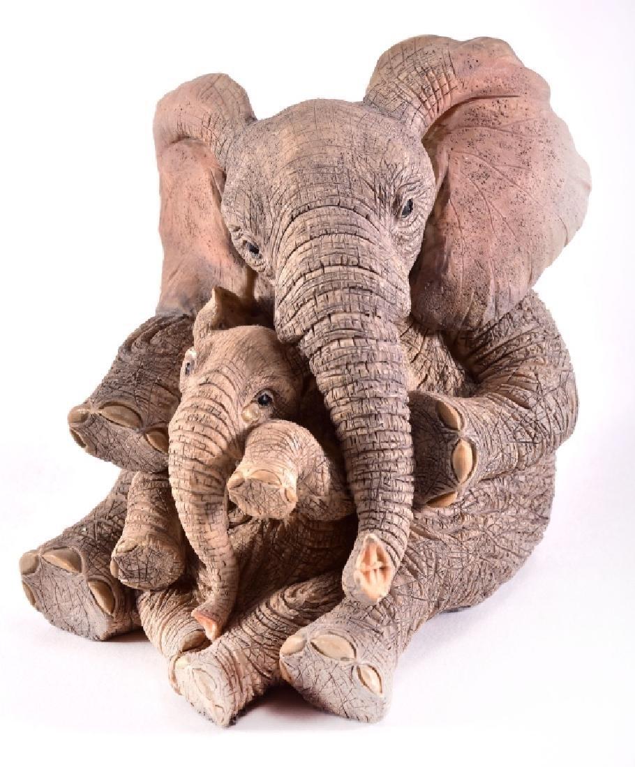 "Paw Prints ""Elise & Marigold"" Elephants Figurine"