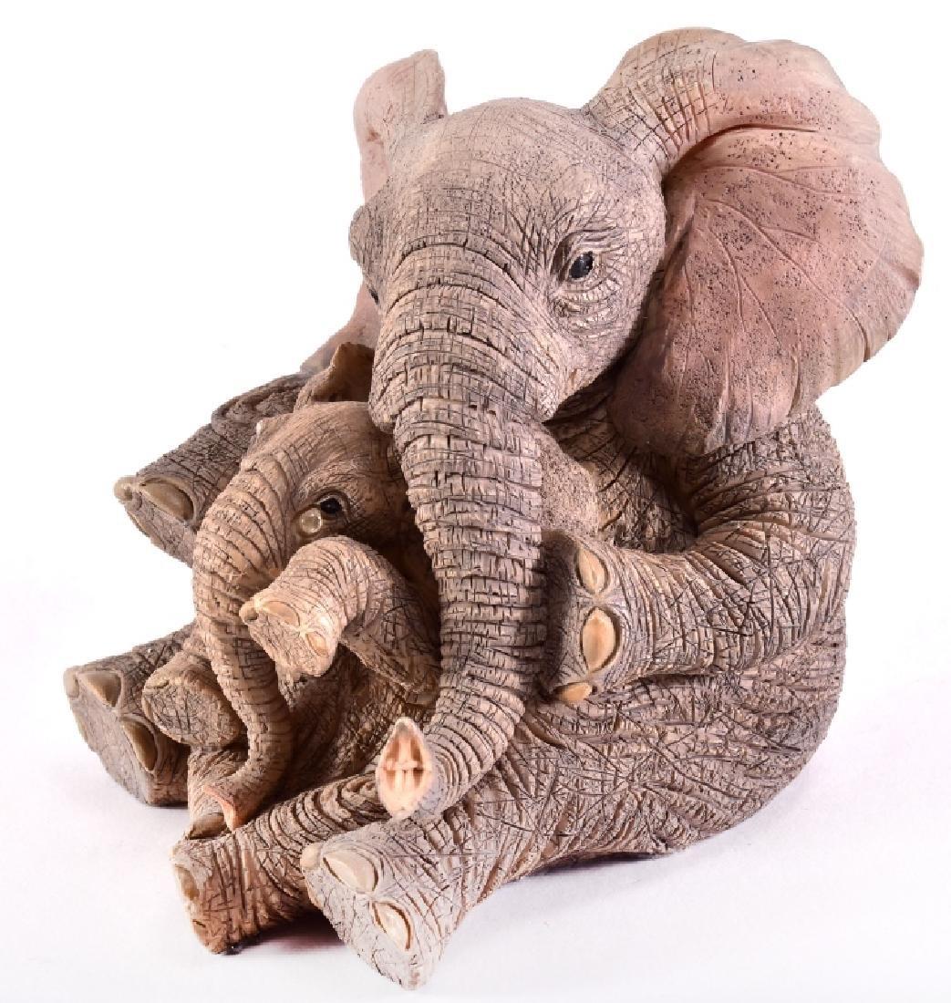 "Paw Prints ""Elise & Marigold"" Elephants Figurine - 2"