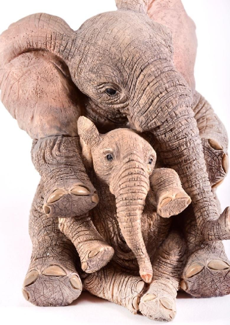 "Paw Prints ""Elise & Marigold"" Elephants Figurine - 3"