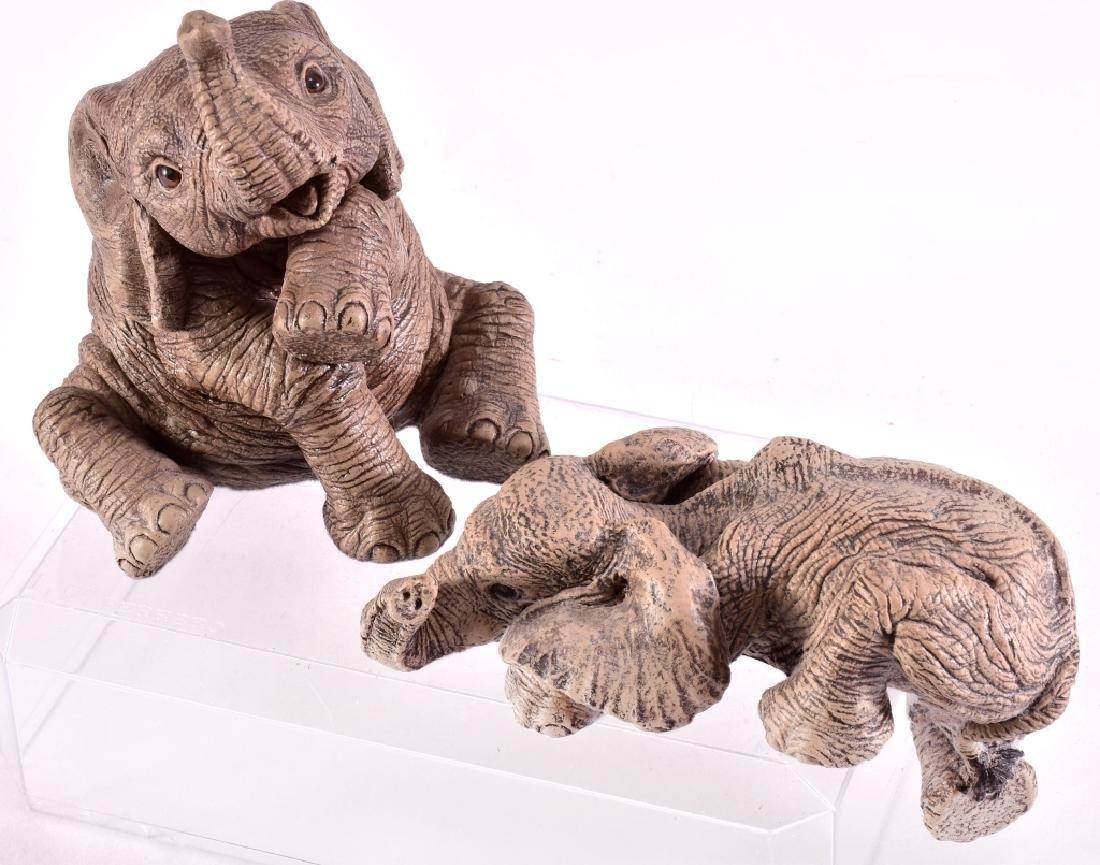"The Herd ""Peanut & Joy"" Elephant Figurines"