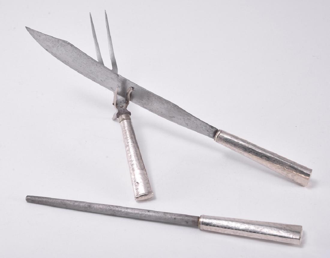 Sterling Silver Carving Set w/Sharpener