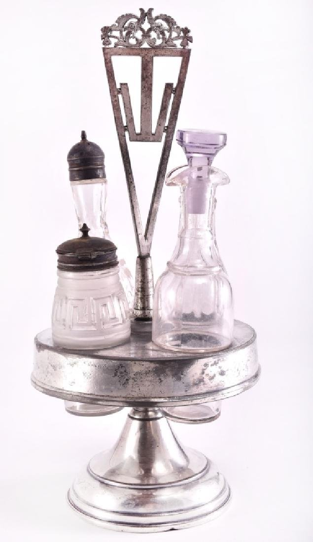 Vintage Silverplate Cruet/Condiment Set - 3