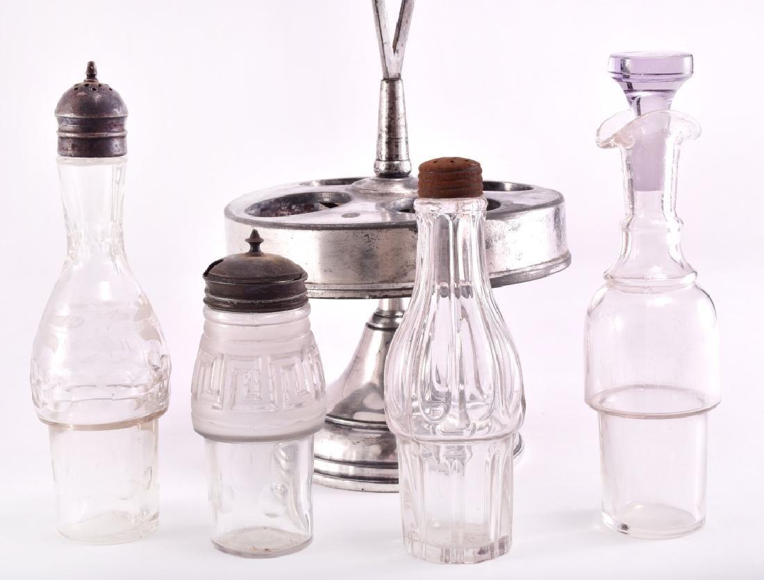 Vintage Silverplate Cruet/Condiment Set - 4