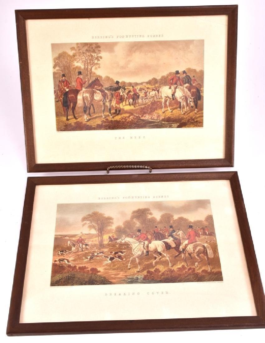 Herring's Fox Hunting Scenes Framed Artwork