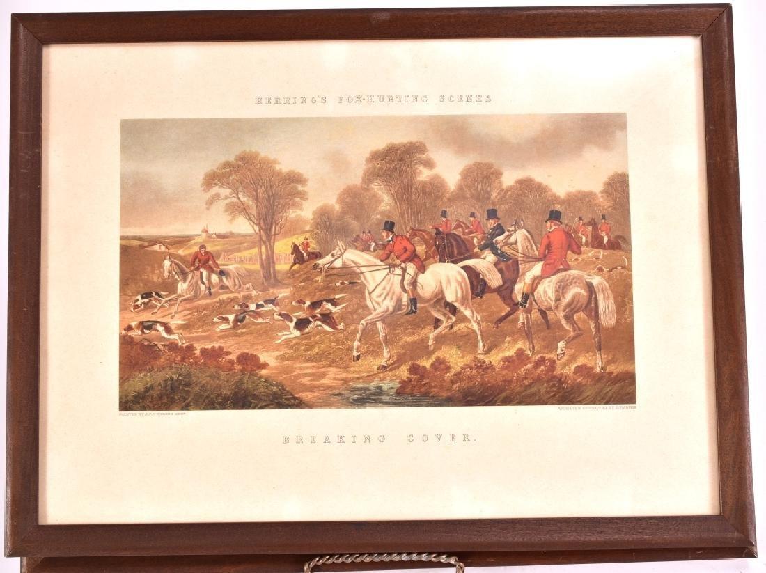 Herring's Fox Hunting Scenes Framed Artwork - 4