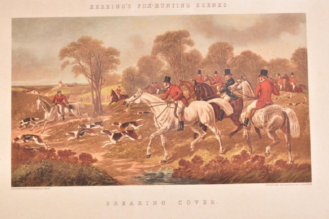 Herring's Fox Hunting Scenes Framed Artwork - 5