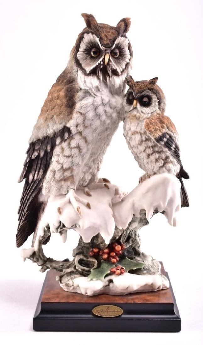 Giuseppe Armani Capodimonte Two Owls Figurine