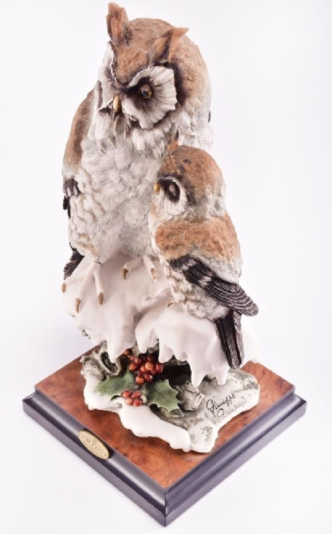Giuseppe Armani Capodimonte Two Owls Figurine - 2