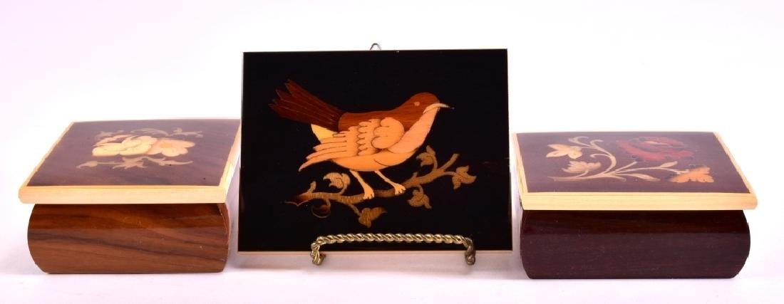 Marquetry Bird and Trinket Boxes - 2