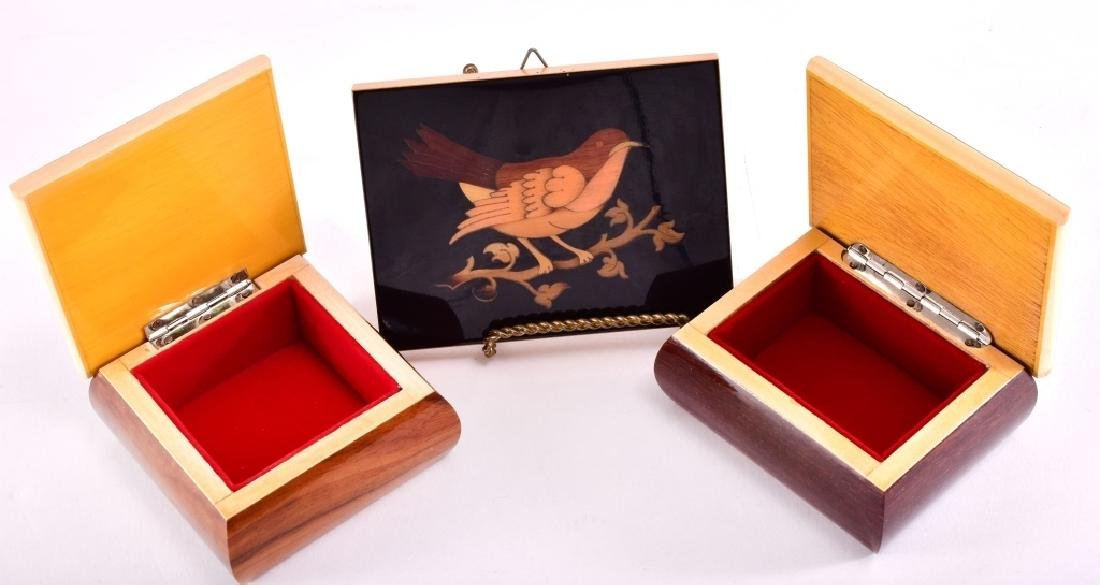 Marquetry Bird and Trinket Boxes - 3