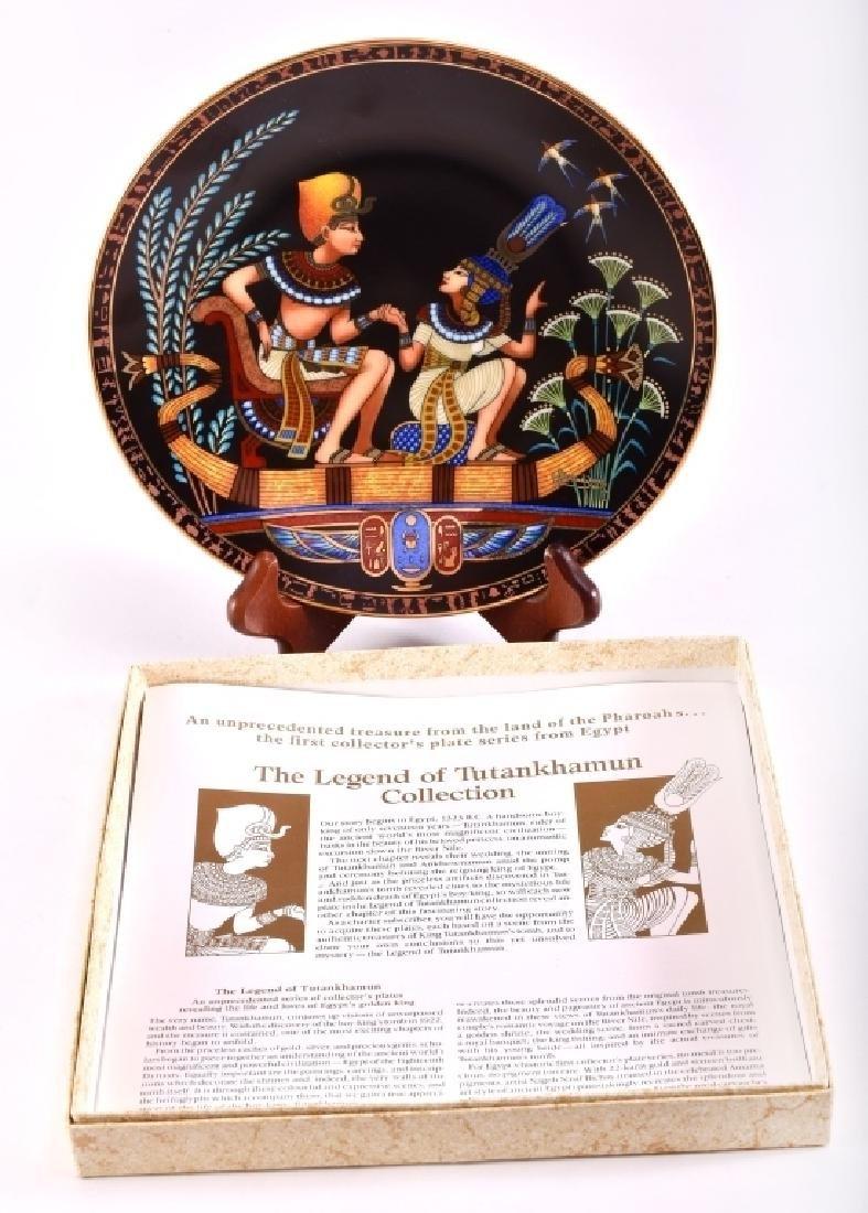 Osiris Porcelain The Legend Of Tutankhamun Plate
