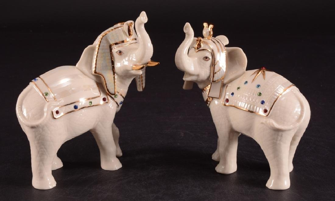 Lenox Elephants Of The Nile Porcelain Figurines