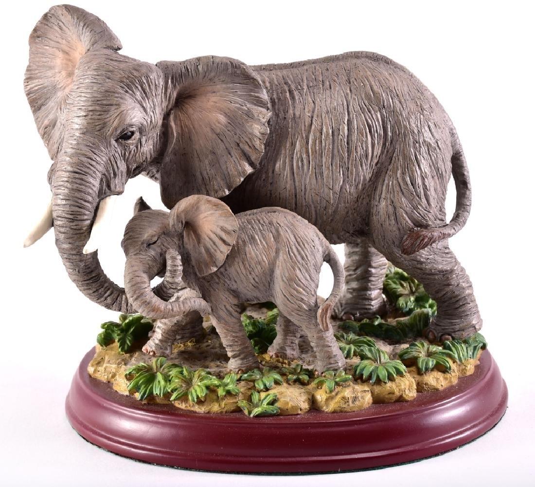 """Lenox """"Peaceful Embrace"""" Elephants Figurine"""