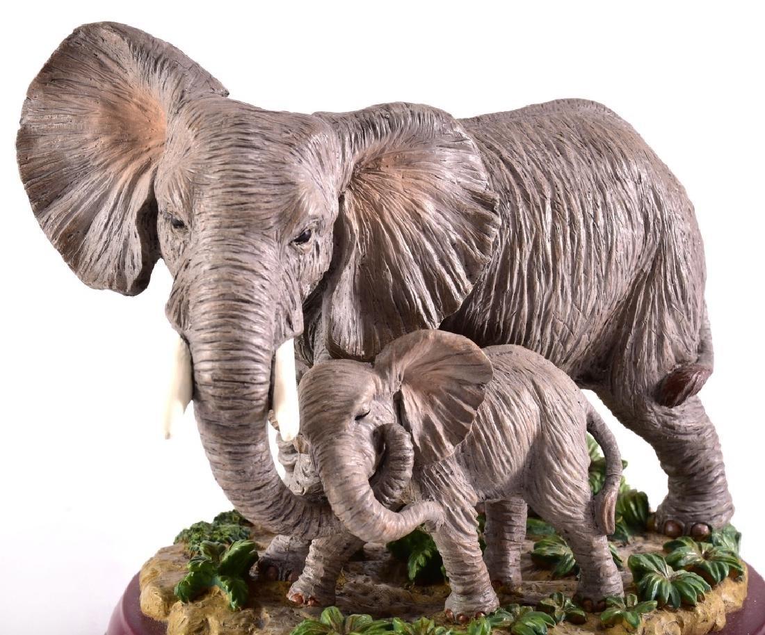 """Lenox """"Peaceful Embrace"""" Elephants Figurine - 2"""