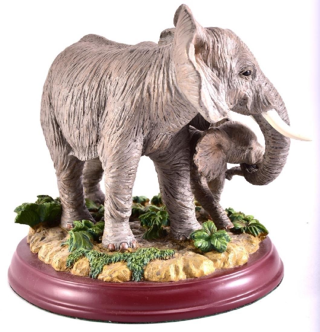 """Lenox """"Peaceful Embrace"""" Elephants Figurine - 3"""