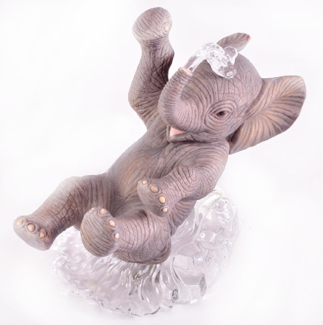 Lenox Ceramic & Crystal Elephant Figurine