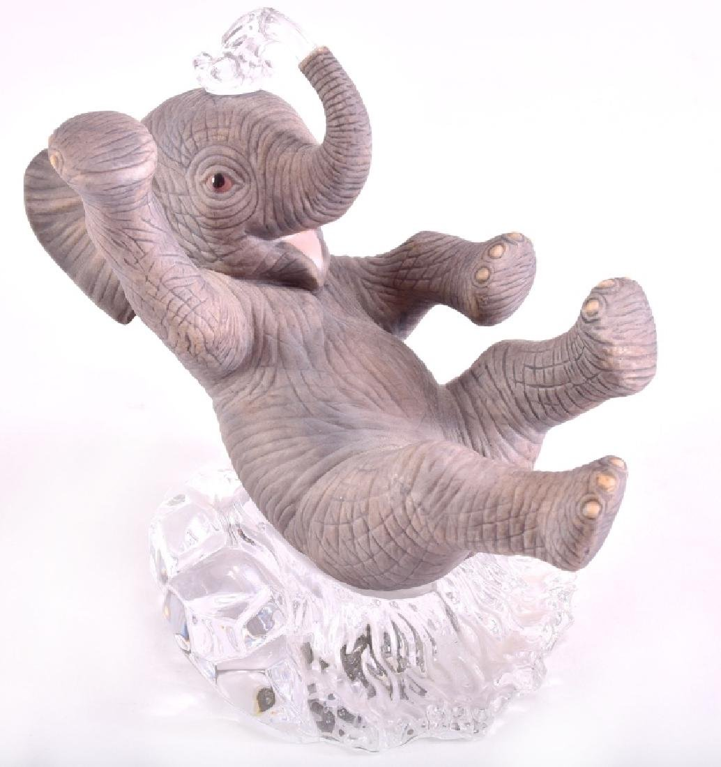 Lenox Ceramic & Crystal Elephant Figurine - 3