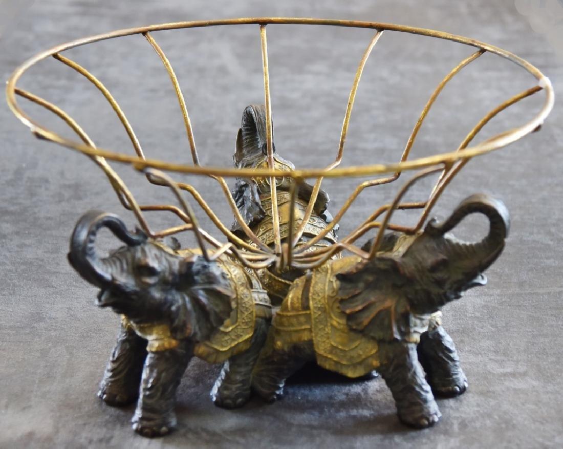 Trio Elephant Fruit Stand