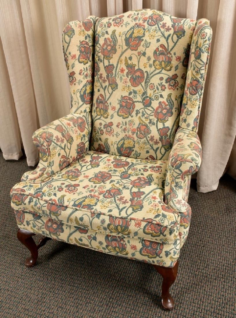 Queen Anne Wing Chair - 3