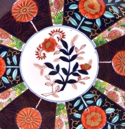 Gold Imari Floral Hand Painted Oriental Plate - 2