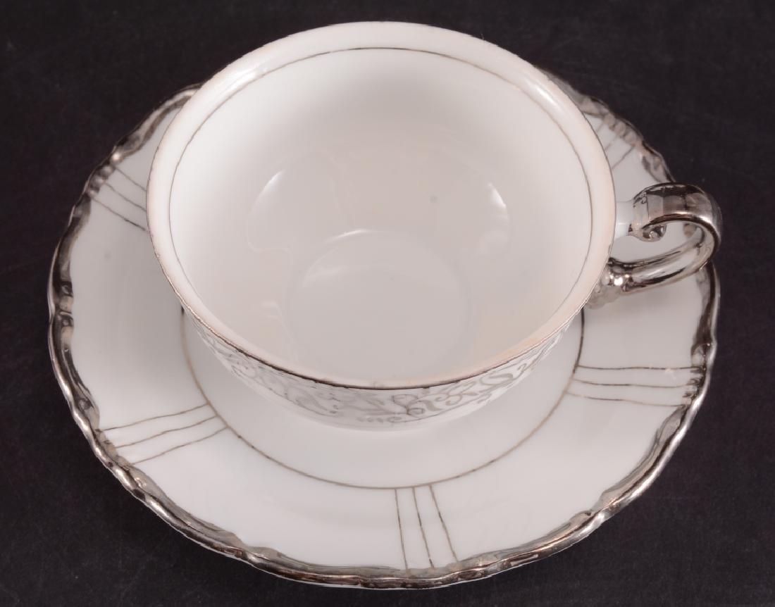 "Seyei China ""Renaissance"" Platinum Handle Tea Set - 3"