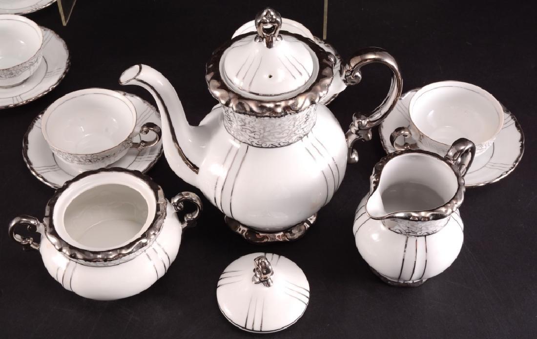 "Seyei China ""Renaissance"" Platinum Handle Tea Set - 5"