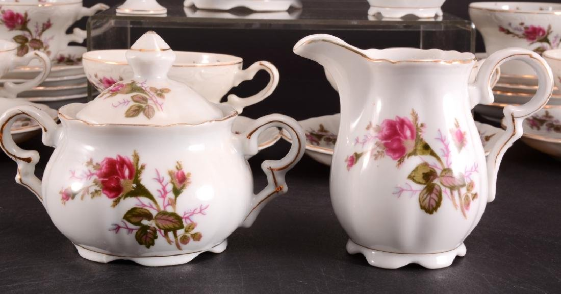 21 Pcs. Moss Rose China Tea Set - 2
