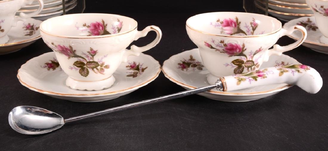 21 Pcs. Moss Rose China Tea Set - 3