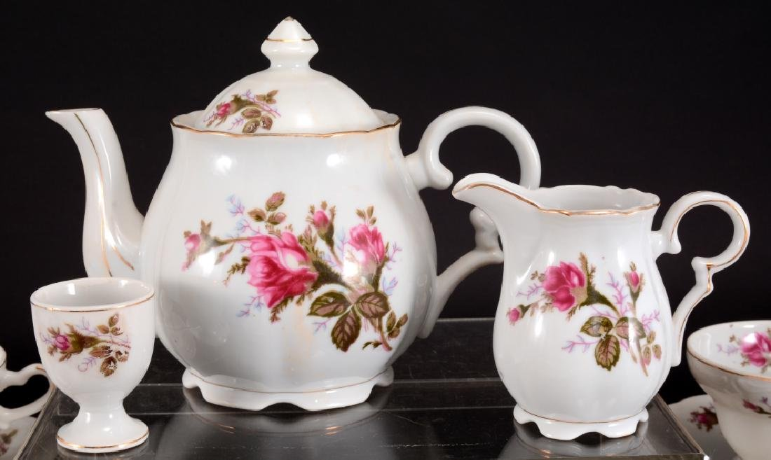 21 Pcs. Moss Rose China Tea Set - 4