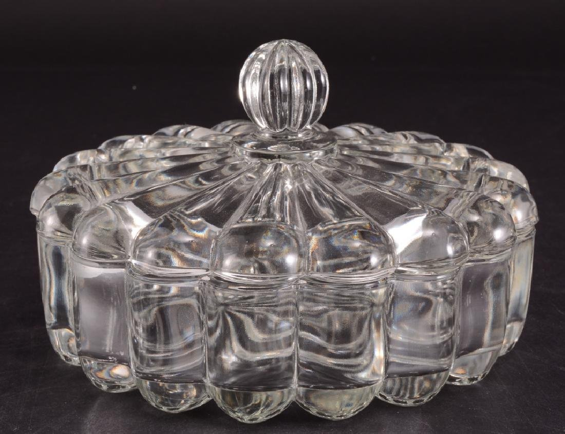 Heisey Crystolite Round Covered Candy Dish - 2