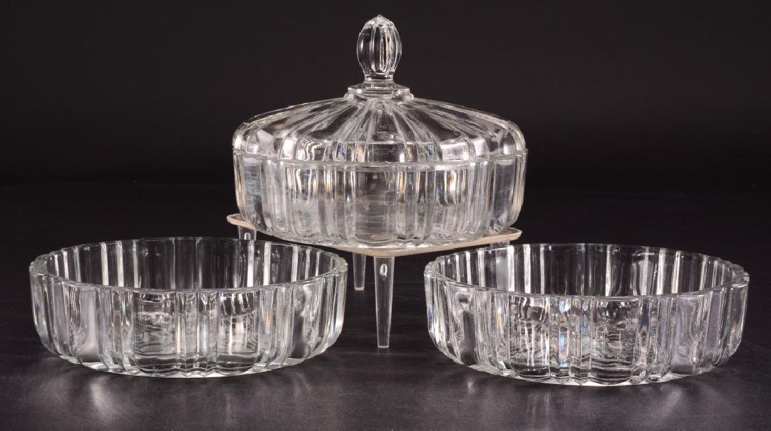 3 Pressed Glass Round Candy/Nut Dishes