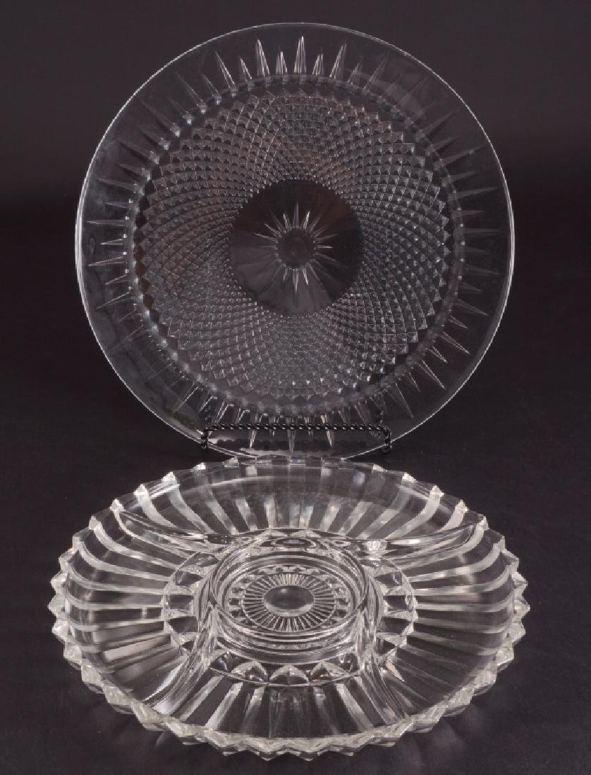 2 Round Glass Platters