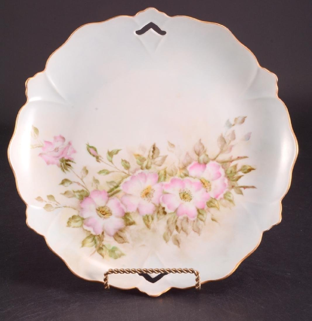 Hand Painted Pink Roses Serving Tray