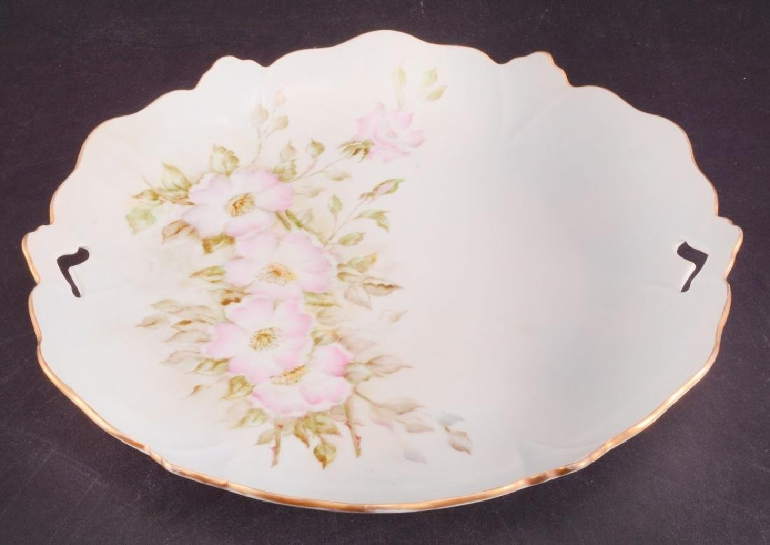 Hand Painted Pink Roses Serving Tray - 2